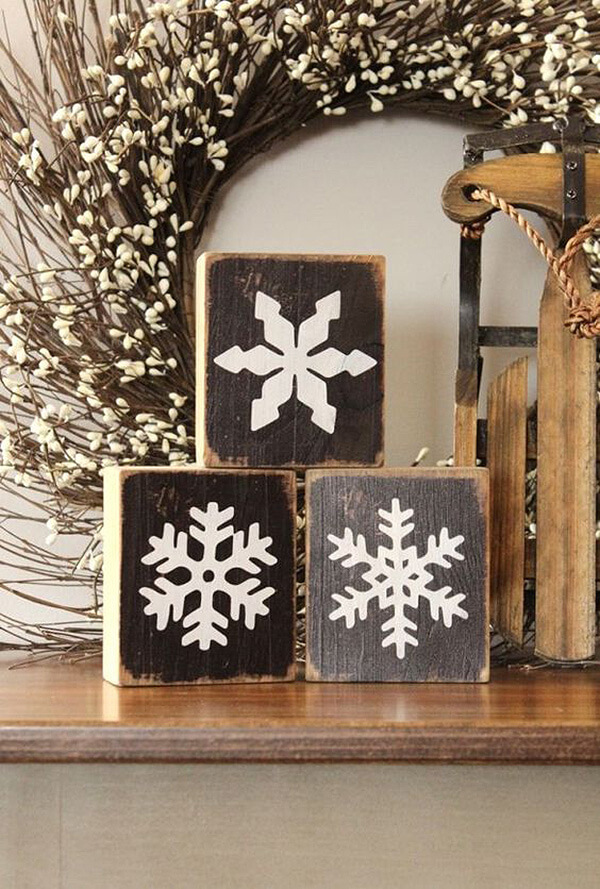 Snowflake Wood Block Project