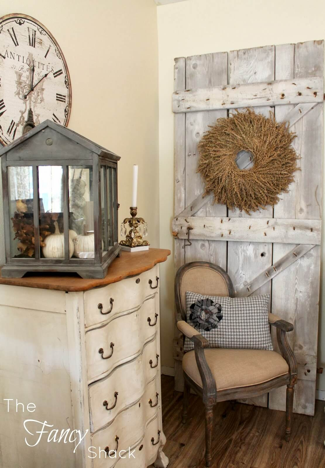 A Birdhouse Assemblage and Barnwood Door