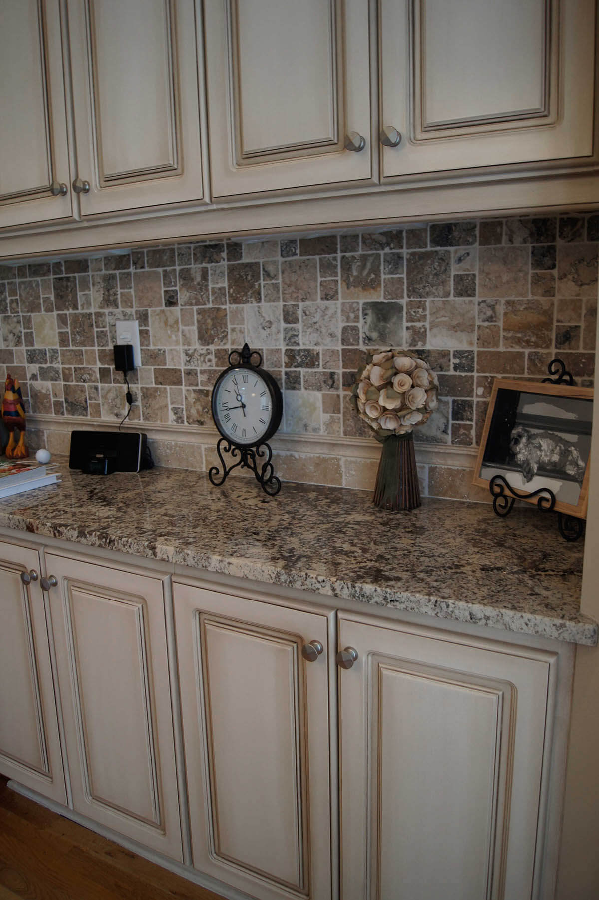 Spring Eggshell Rustic Kitchen Cabinets