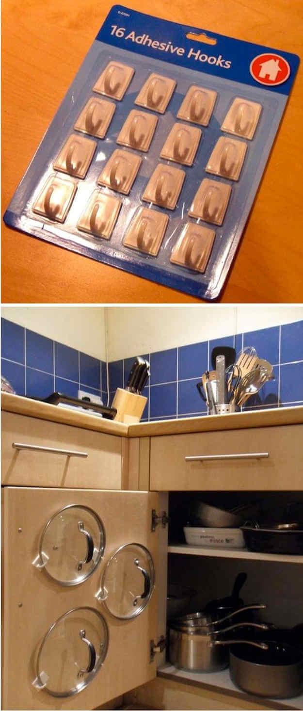 Lid Storage on Your Cabinet Doors