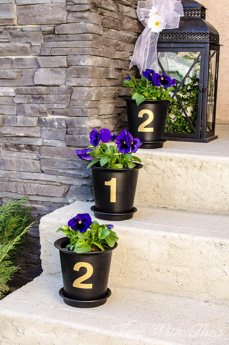 House Number Flower Pot Decoration