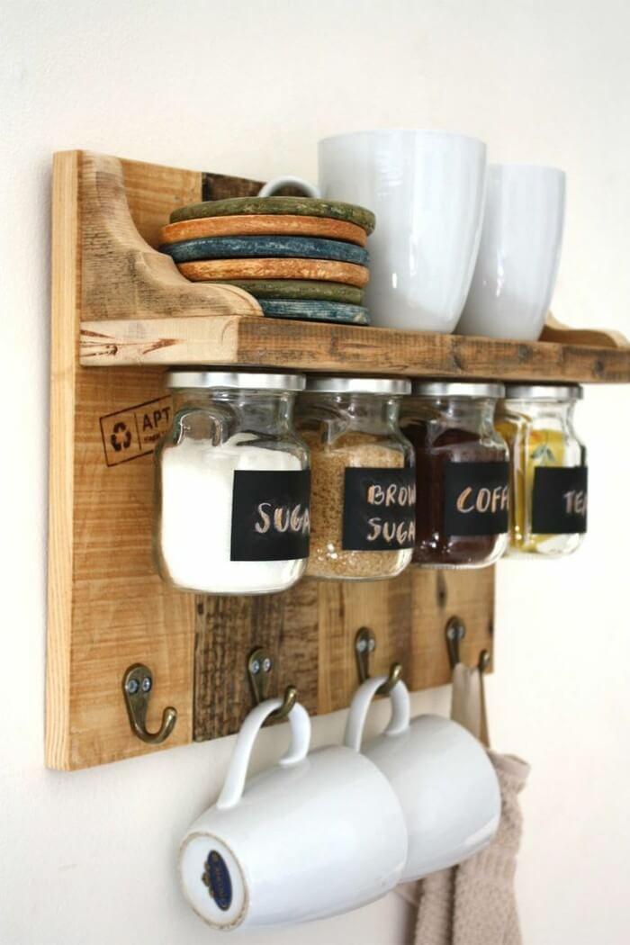 Space-Saving Jars Mounted Under a Shelf