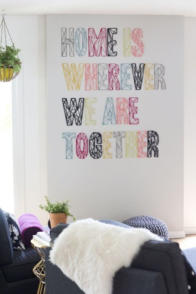 Home Quote String Wall Art Project