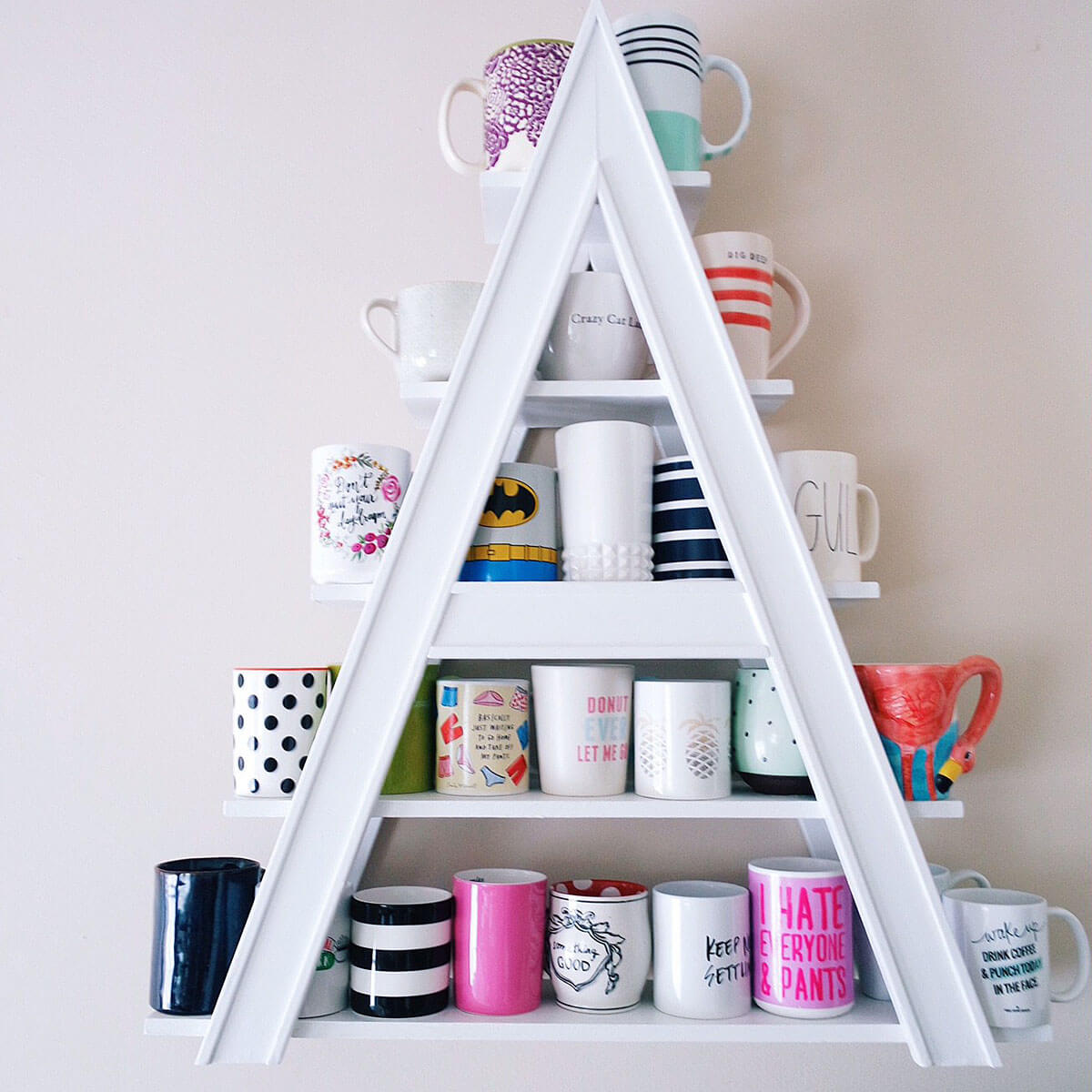 A-frame Mug Shelves