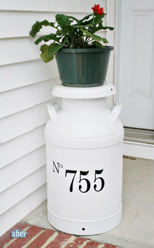A Milk Jug Creation For Your Porch