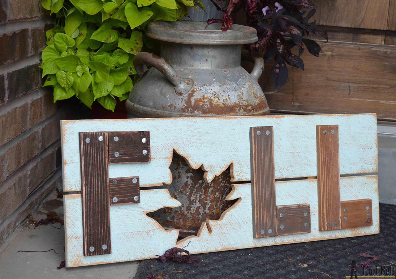 A Rustic Wood Sign Communicates Volumes