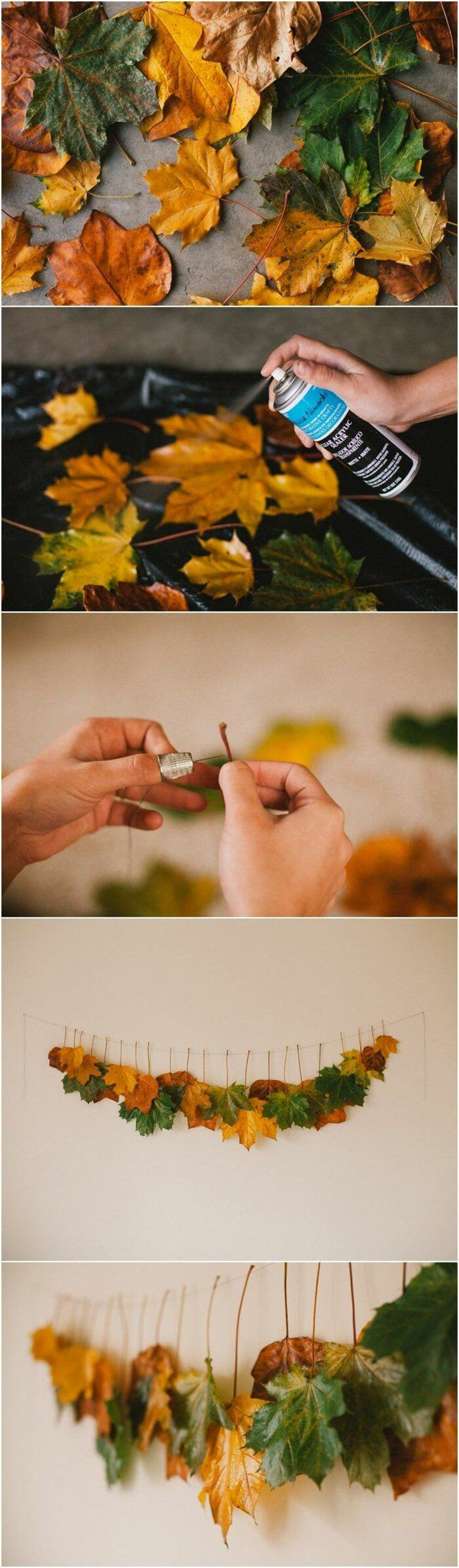 Beginner Friendly Fall Leaves Garland