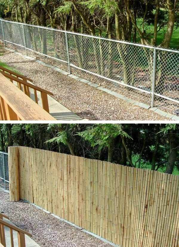 Bamboo Camouflage Cover for Chainlink Fence