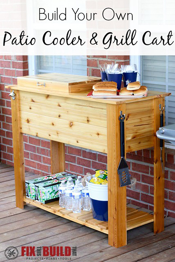 Simple As Can Be: Knotty Pine Grill Station