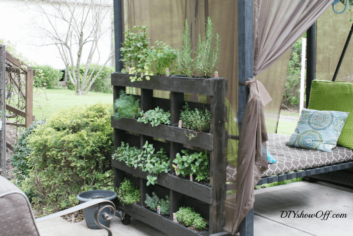 Pallets, Sage, Rosemary, and Thyme