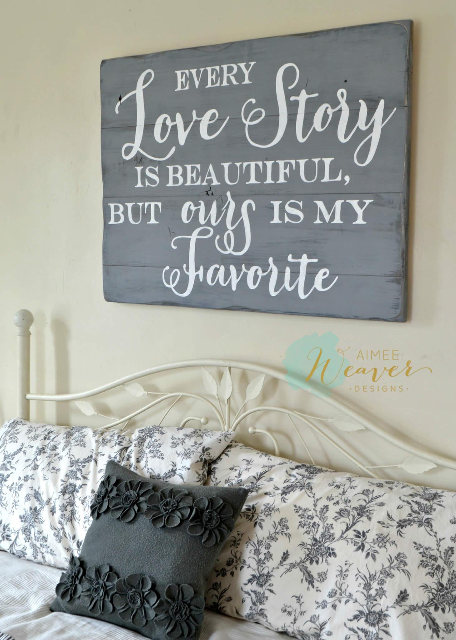DIY Love Story Pallet Art