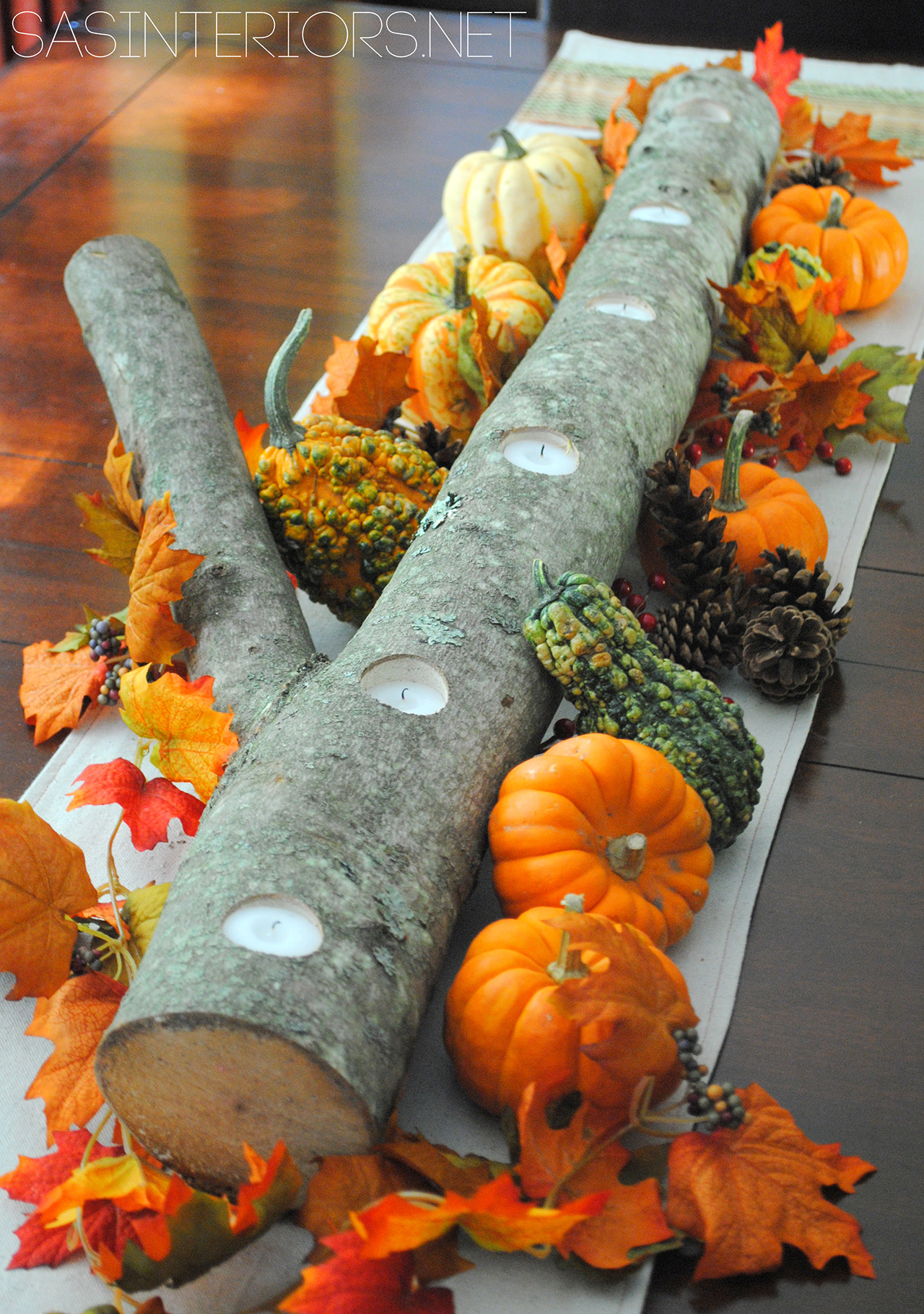 Tree Limb Votive Holder and Gourd Runner