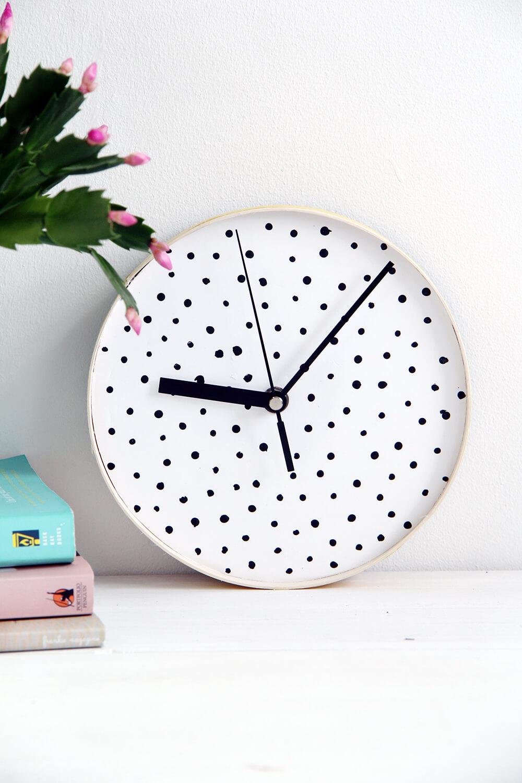 Tick Tock Polka Dot Timekeeper