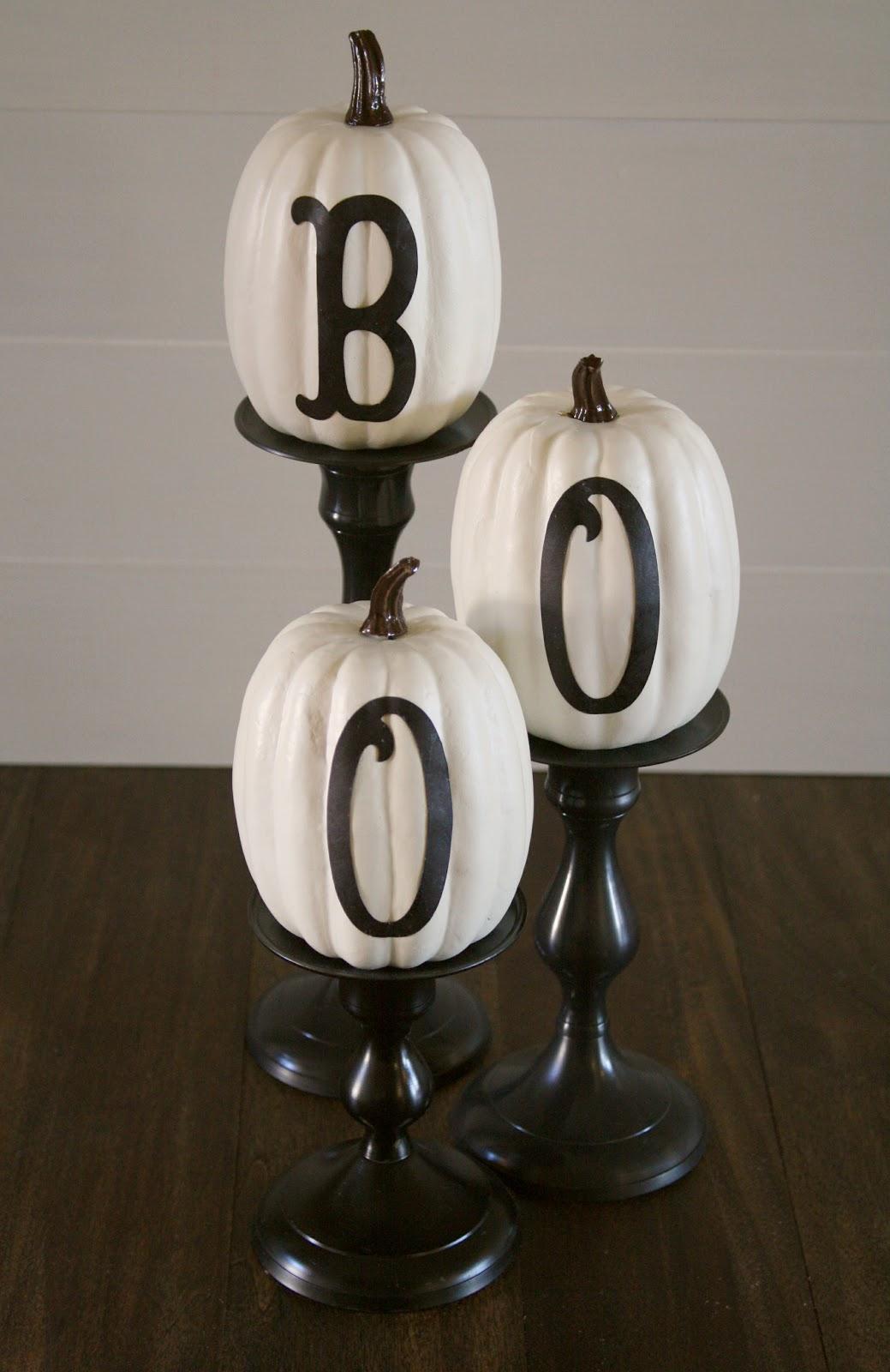 Stylish Letters Sweeten Pumpkins