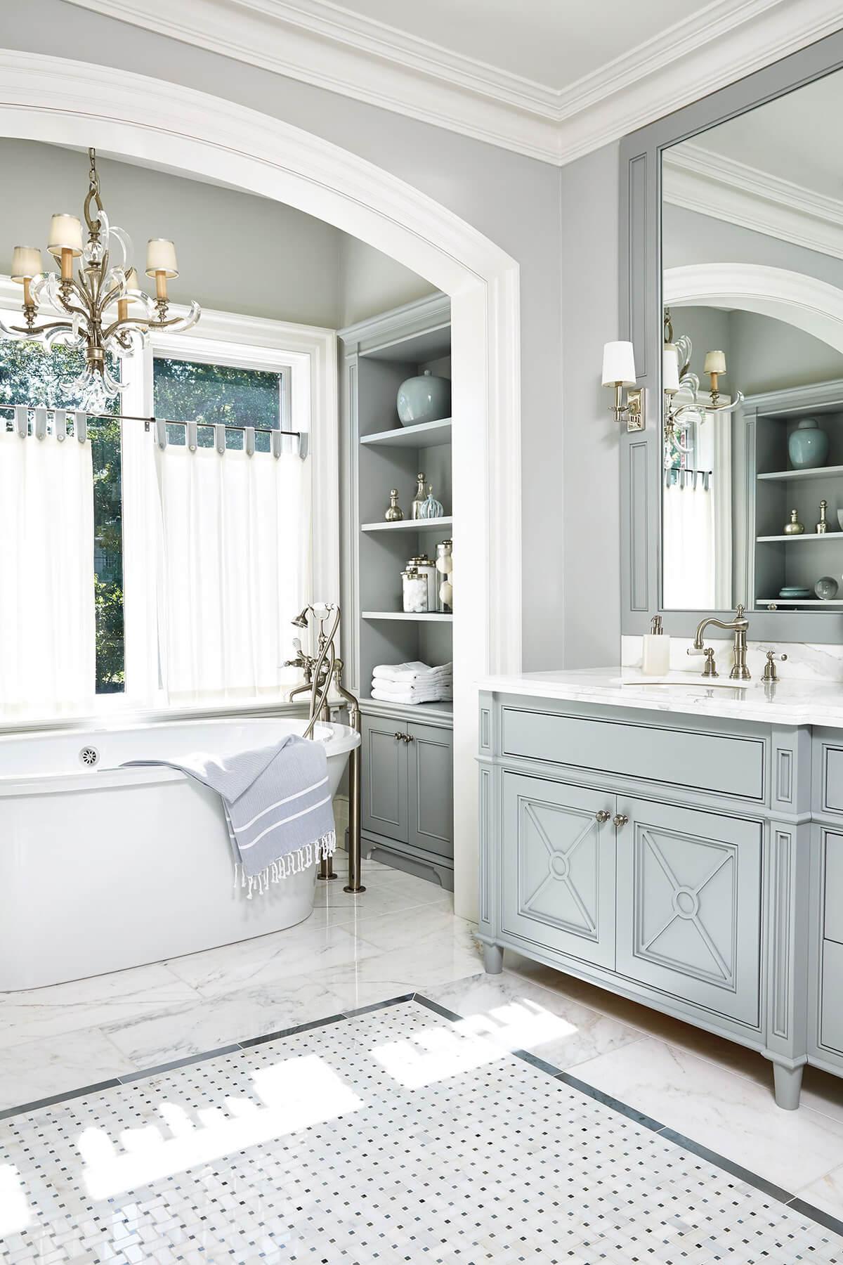 Classy Farmhouse-Style Bathroom