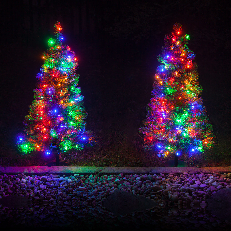 Festive Pathway Christmas Tree Lights