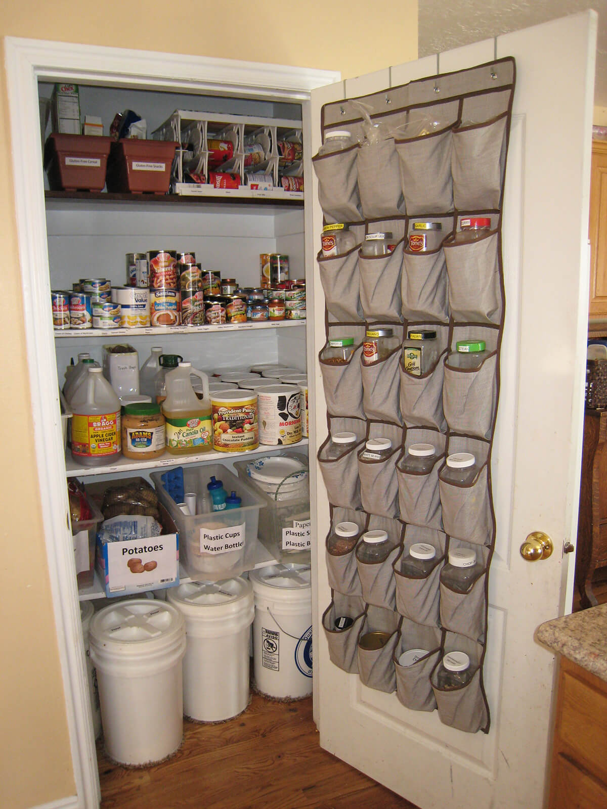 Shoe Organizers Filled With Spices
