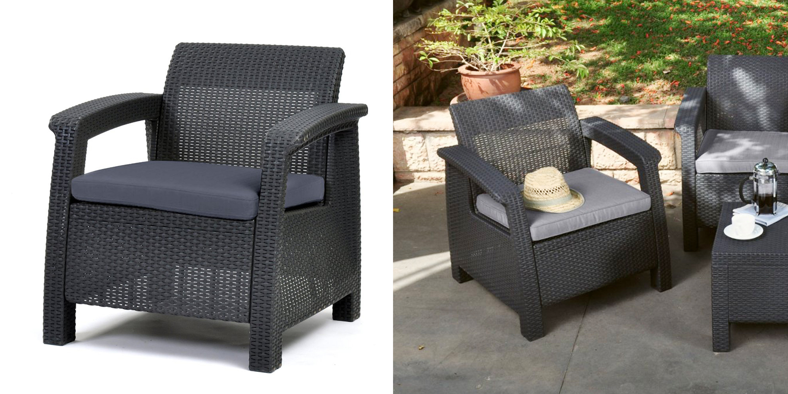 Patio Chair - All-Weather Outdoor Armchair