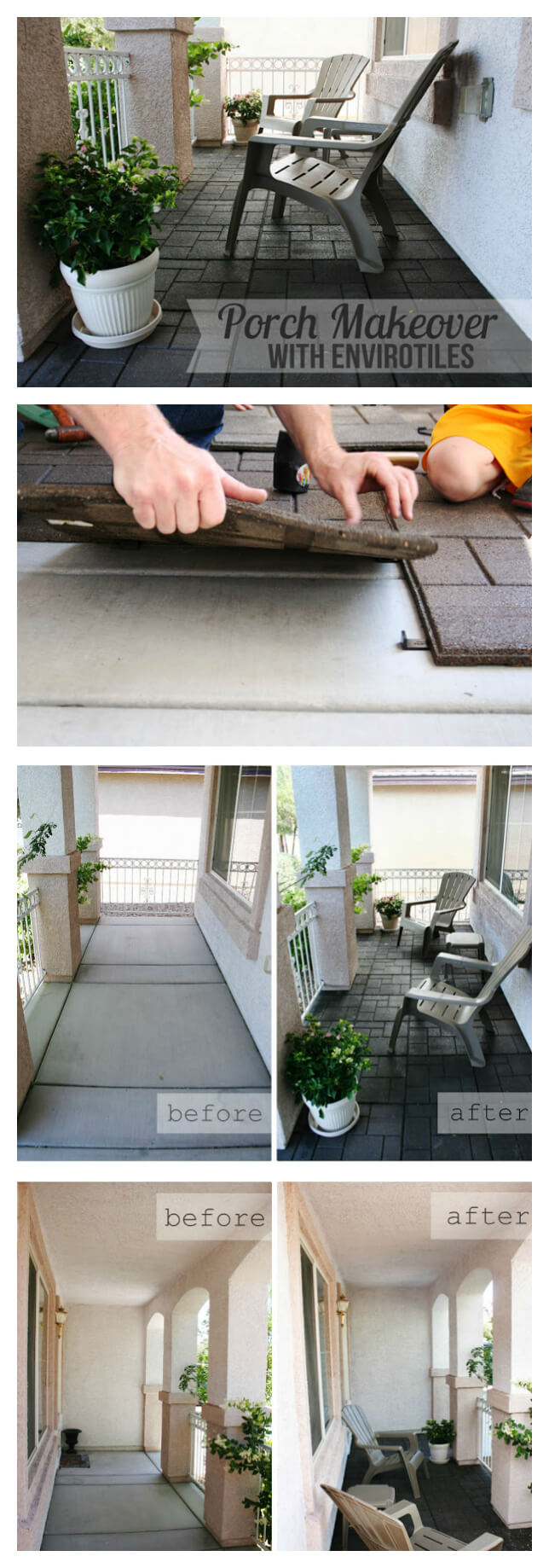 Easy Envirotile Porch Floor Transformation