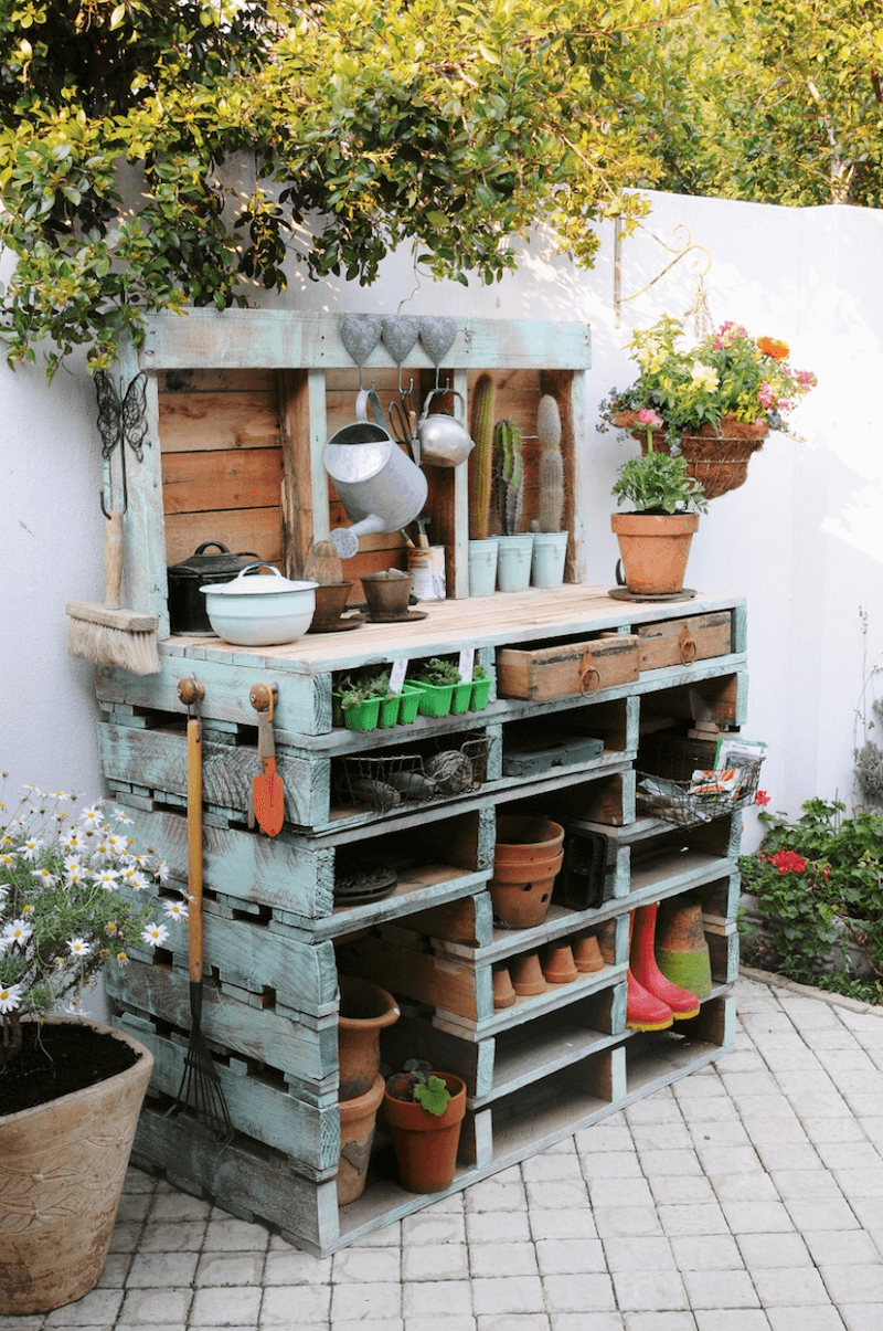 Super Functional Pallet Potting Station