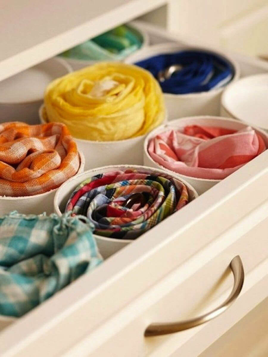 Colorful Linen Drawer Dividers