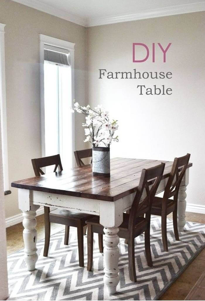 Shabby Chic Baluster Leg Dining Table
