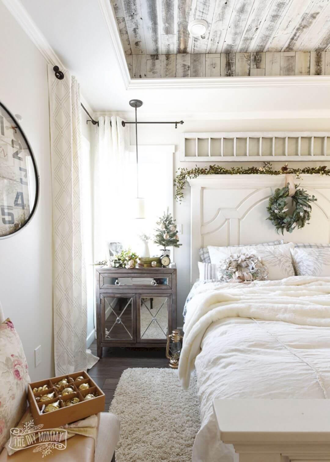 All White Bedroom Farmhouse Style
