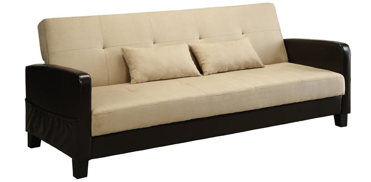 Sleeper Sofa - DHP Vienna Sofa Sleeper with 2 Pillows