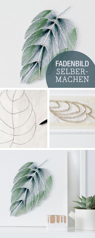 Pretty Palm Leaf String Art