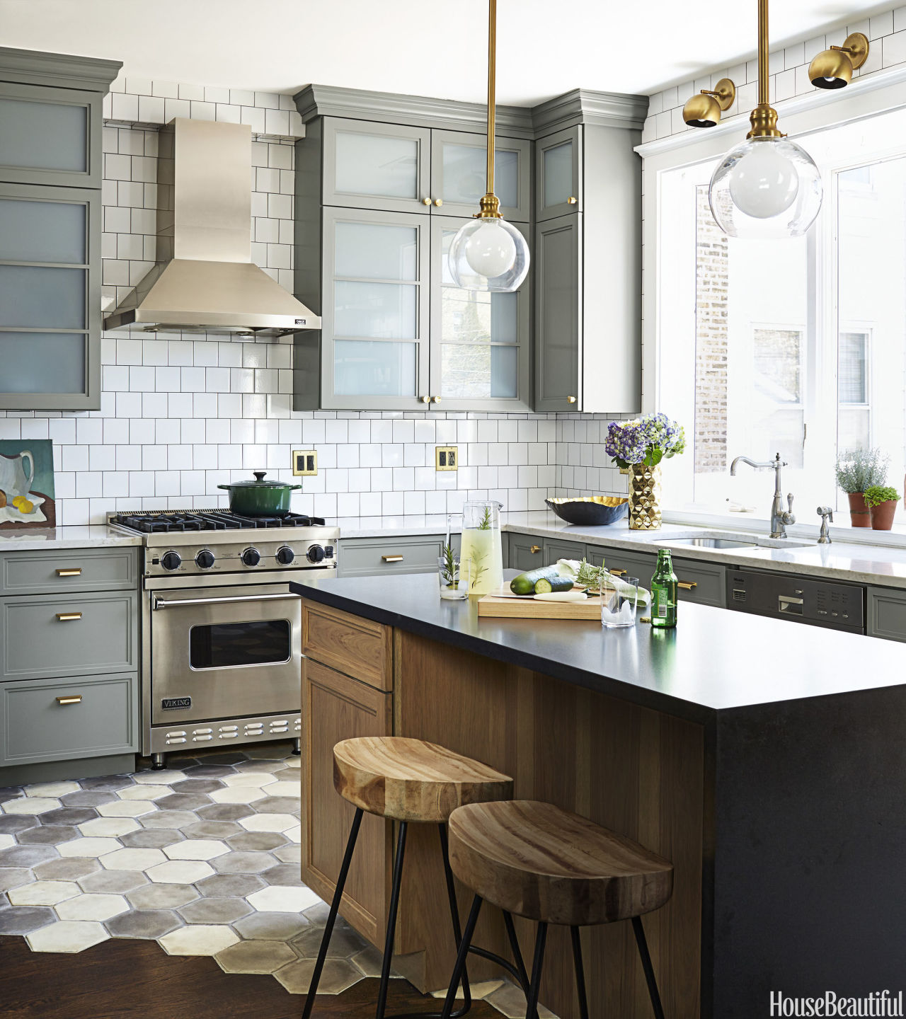 A Touch of Wood Kitchen Island Idea