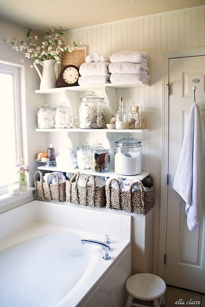 Pantry Style Farmhouse Shelving