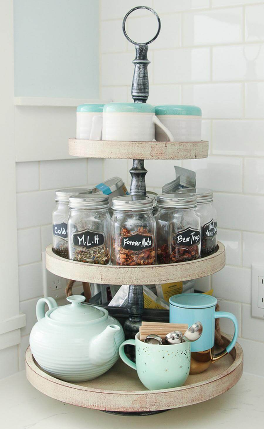 Three Tiers for Tea Caddies