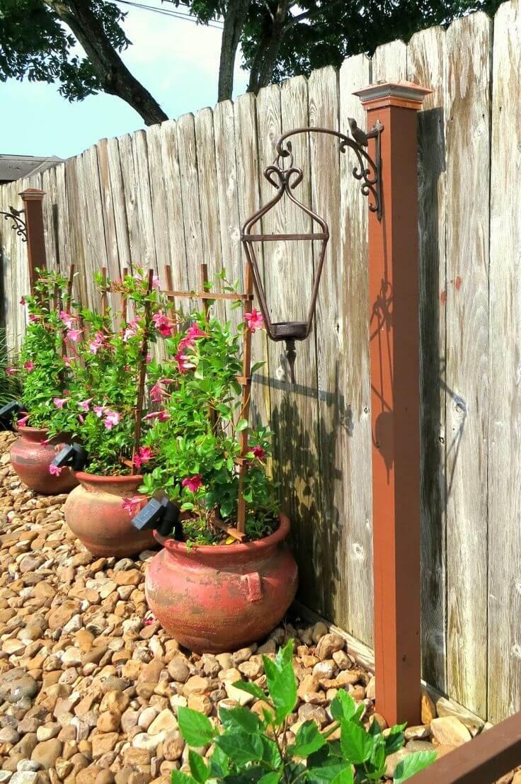 Backyard Lantern Post Candle Holders
