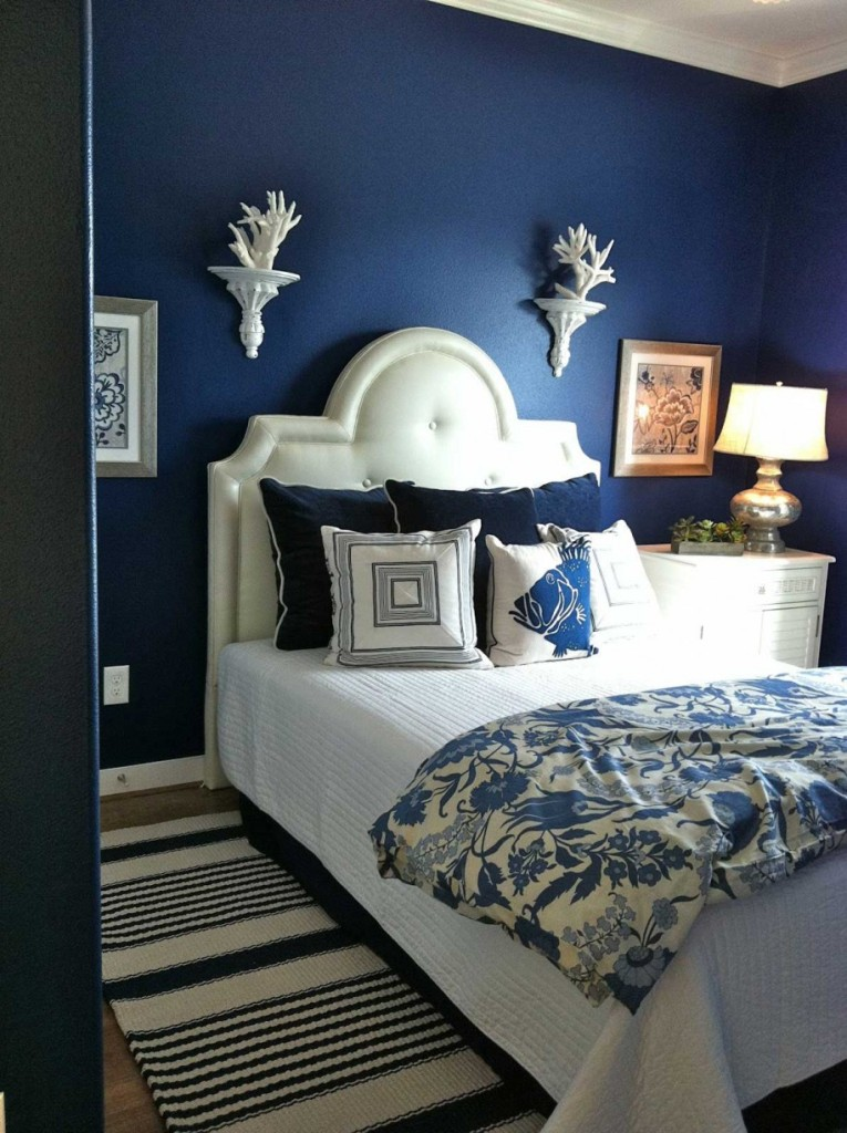 Blue is the Warmest Color Bedroom Design Picture
