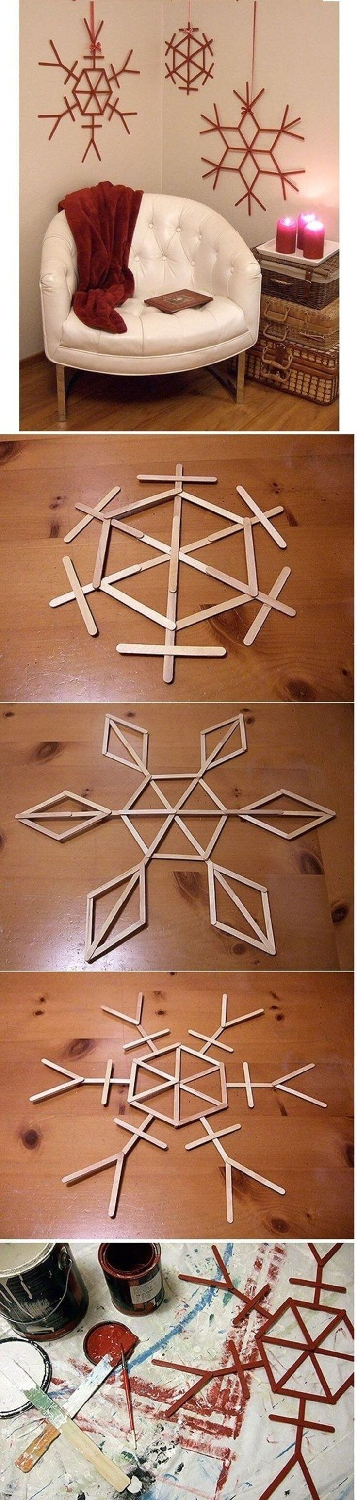Creative Christmas Wall Decorating with Snowflakes