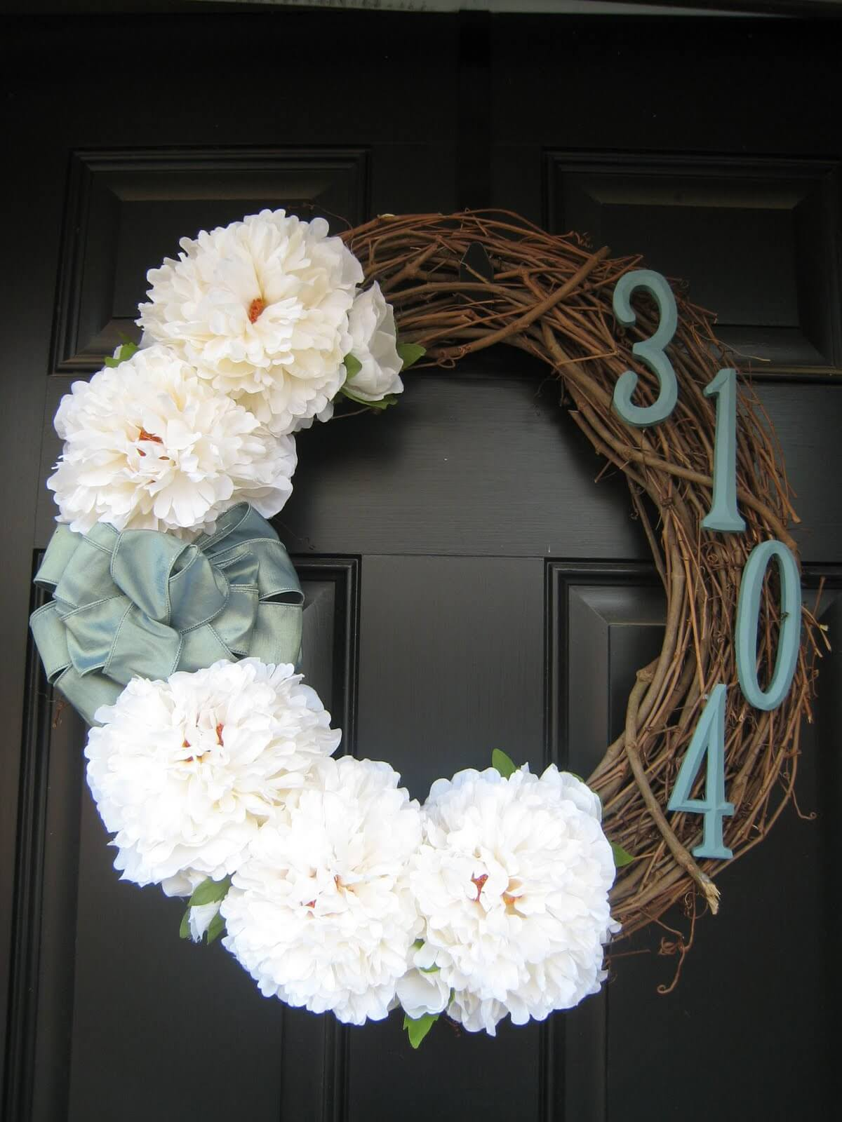 Sage and White Wreath for the Winter