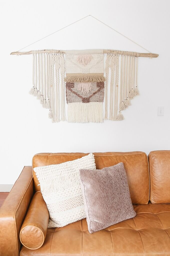 Bold Oversized Driftwood with Macrame Art