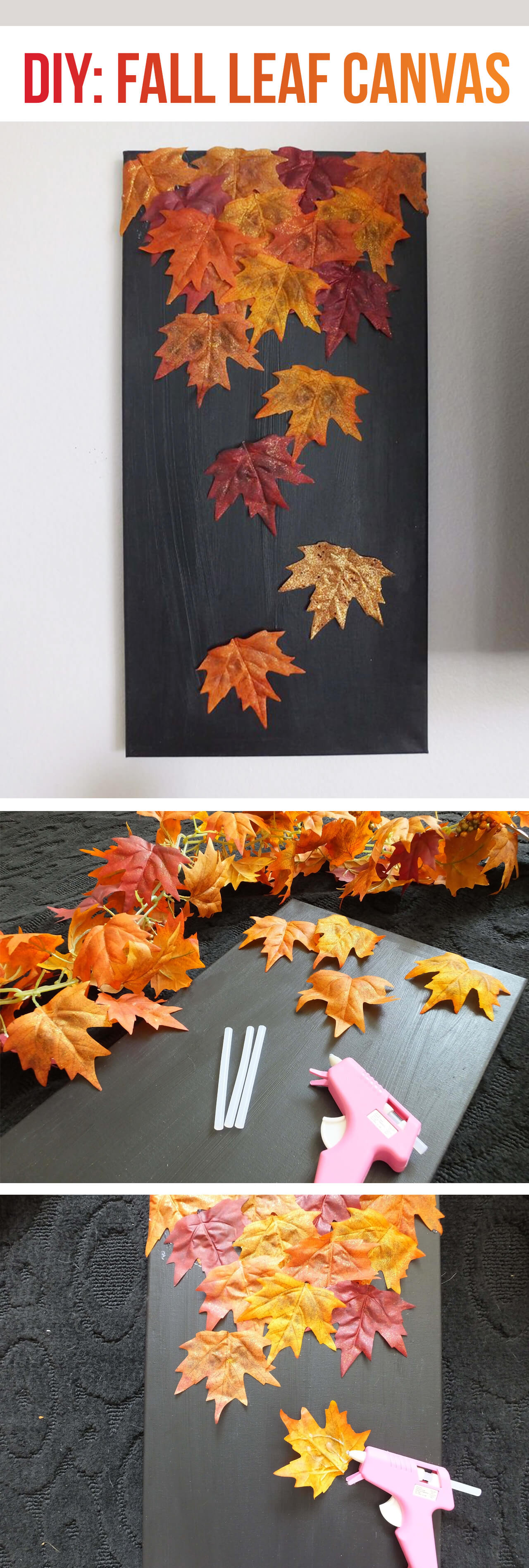 Fall Leaf Art for Instagram Backdrop