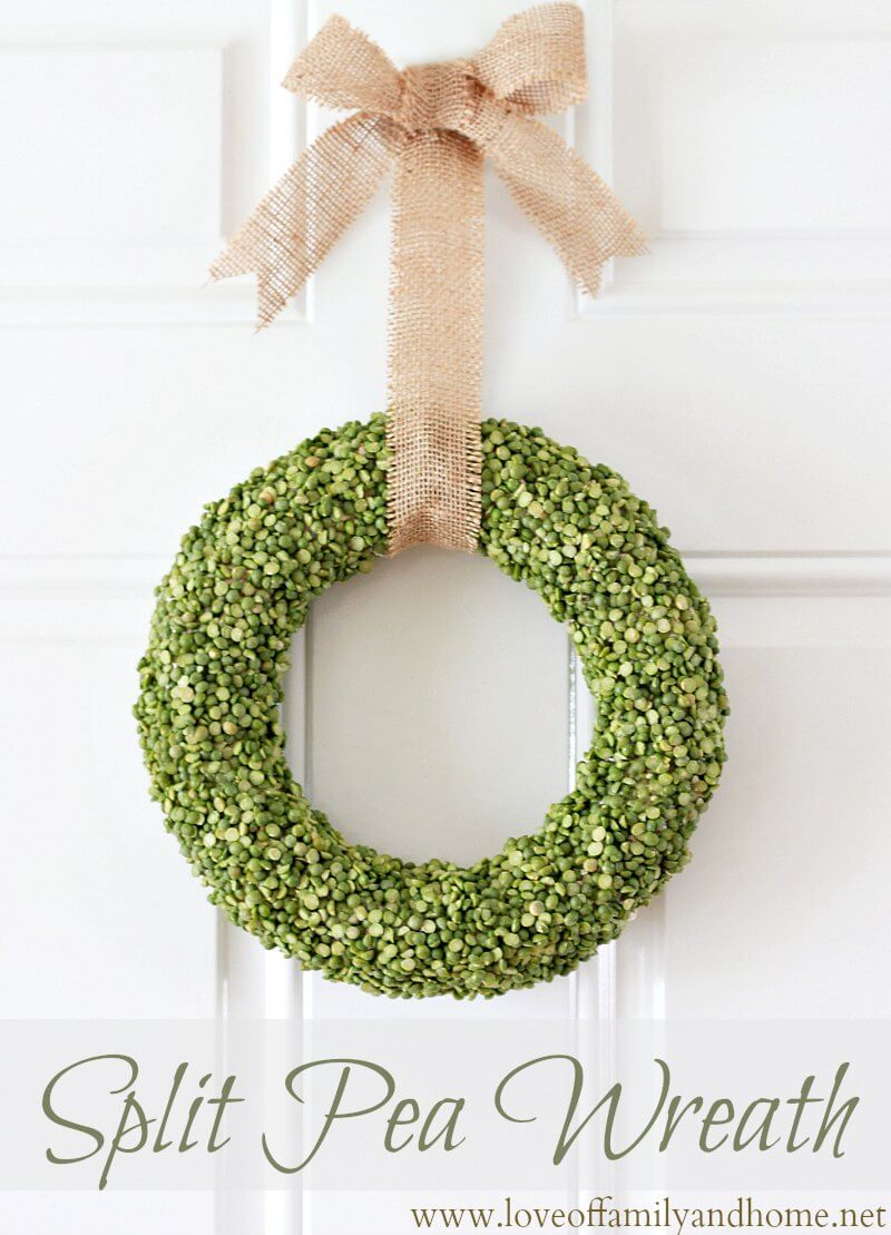Understated Wreath with Natural Green Peas