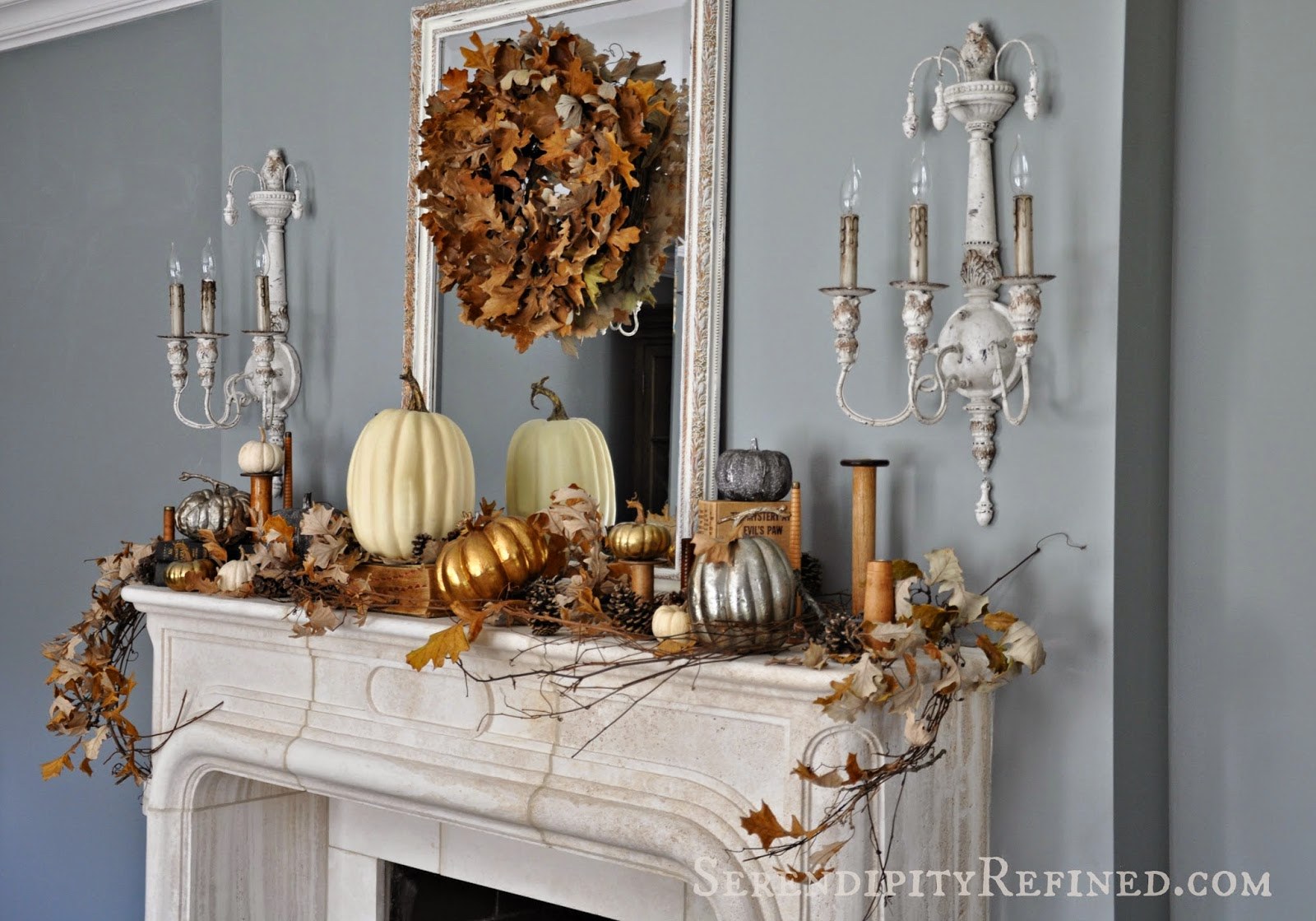 Traditional Mantel Takes on Fall