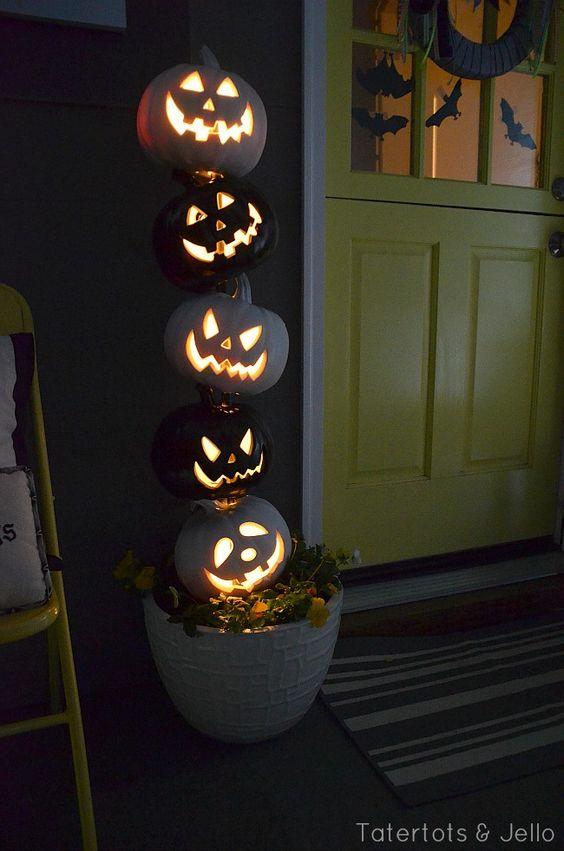 Stacked Evil Pumpkins