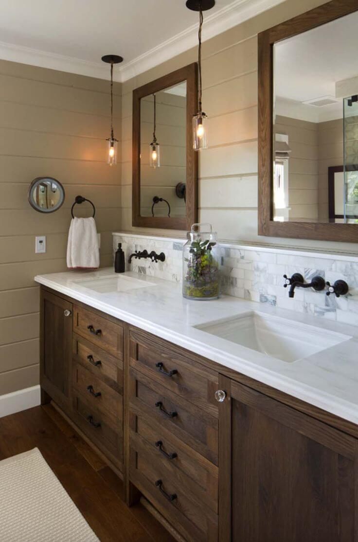 Industrial and Earthy Bathroom