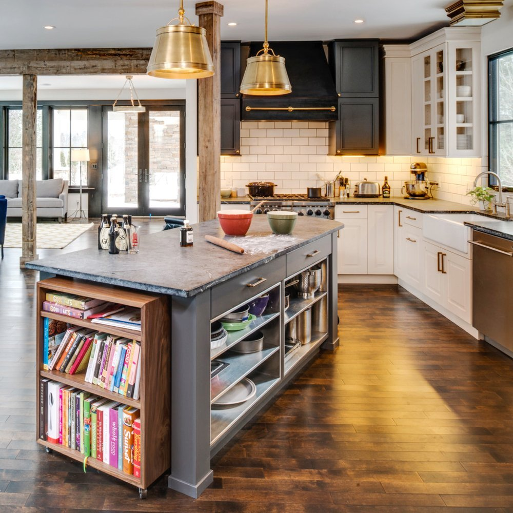 Open Your Mind and Your Cupboards Kitchen Island