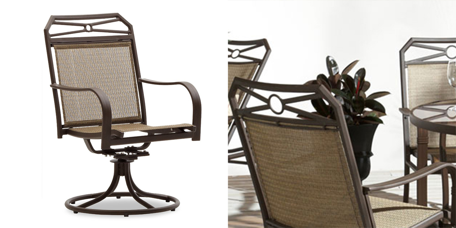 Patio Chair - Swivel Rocker Arm Chair