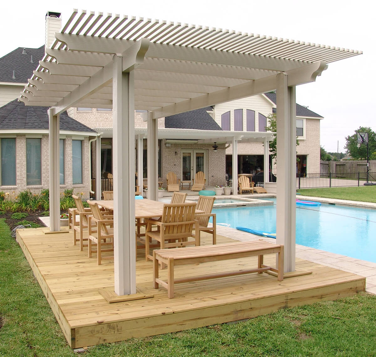 Pacific Picnic Wooden Pergola Setting