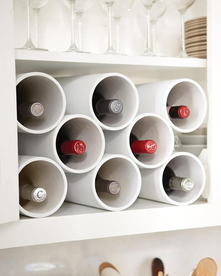 Industrial Inspired Pipe Wine Rack
