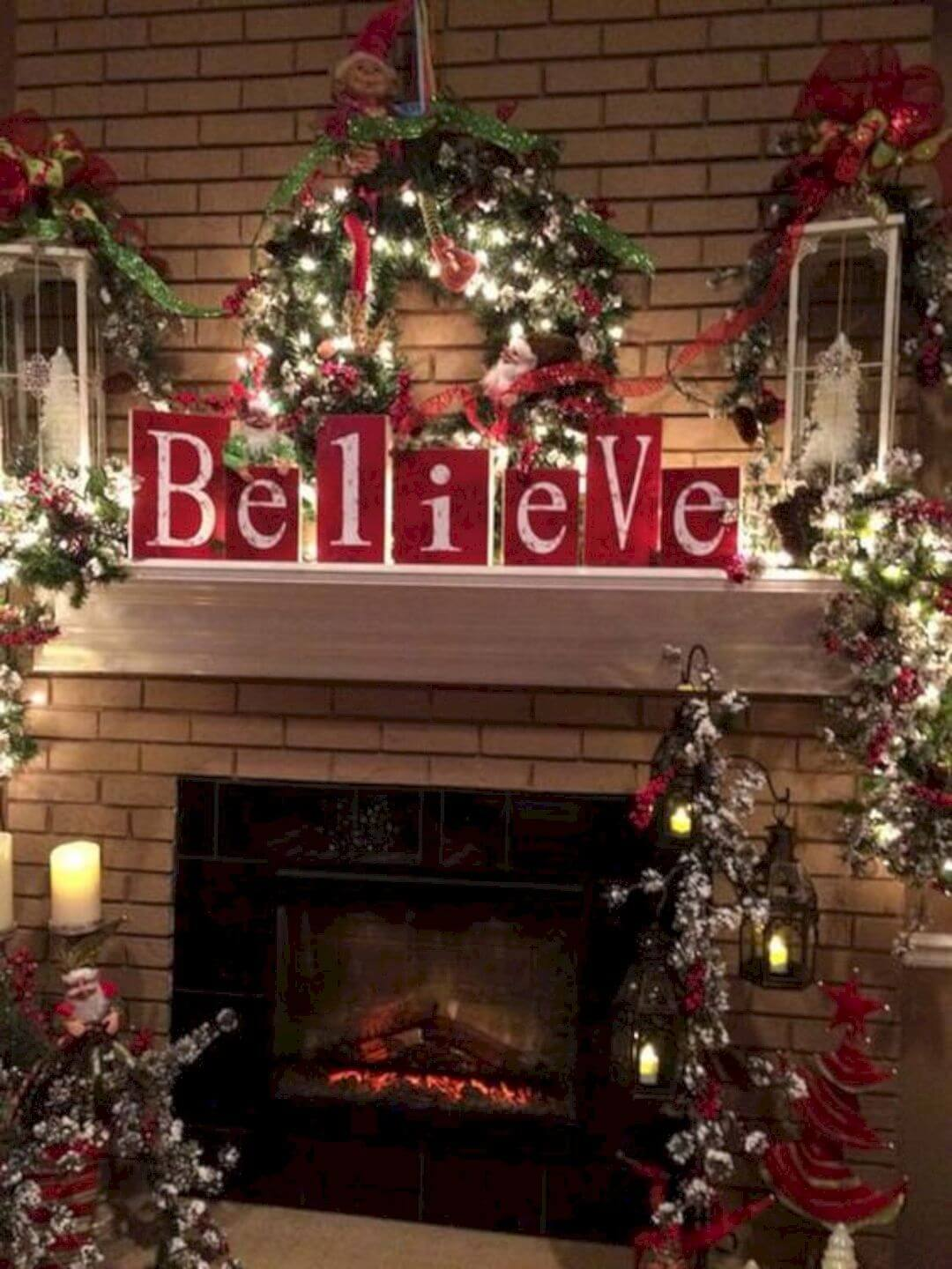 Believe in Christmas Mantel Décor