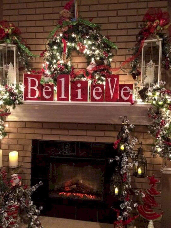 Believe in Christmas Mantel Décor