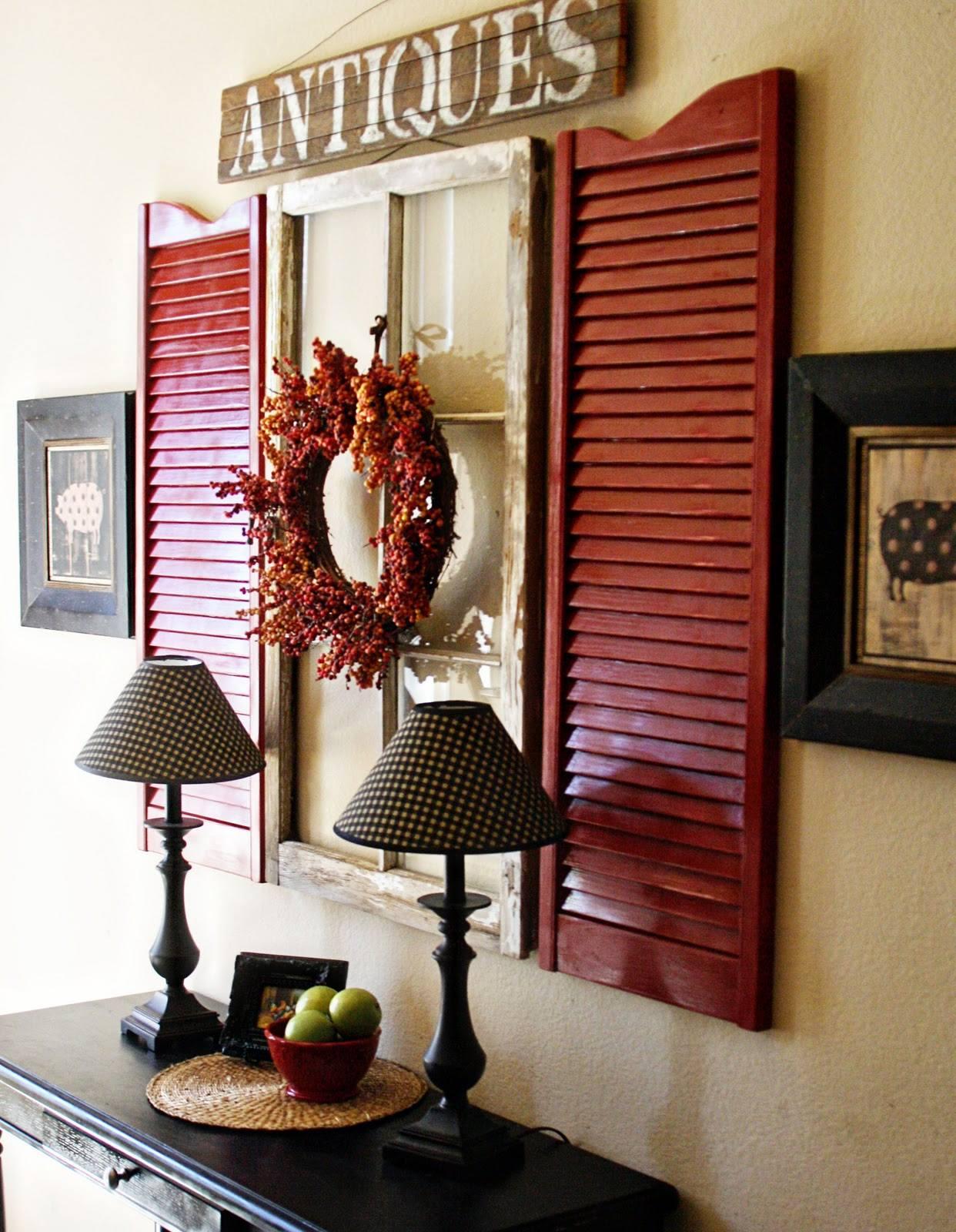 Great Rustic Entryway Décor Idea: Add a Pop of Color