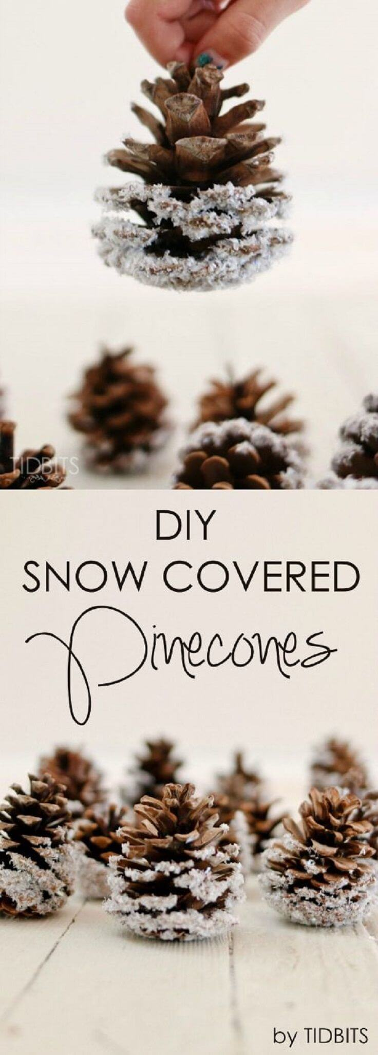 How to Fleck Your Own Pinecones